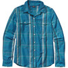 Patagonia W's Overcast L/S Shirt Ventana: Catalyst Blue